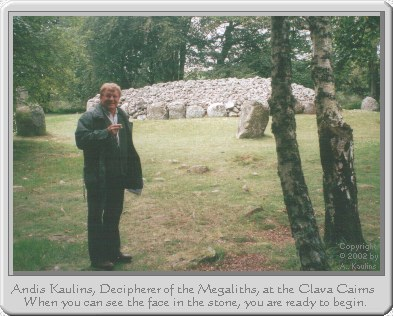 Andis Kaulins at Balnuaran of Clava