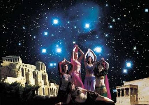 Pleiades at the Parthenon 4000 years ago celebration